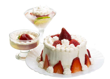 Dessert with strawberry photo