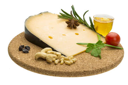 Cheese witn honey and nuts photo