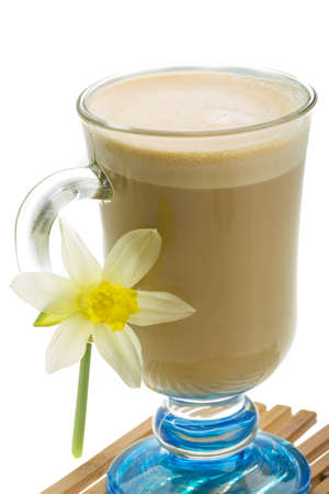 Coffee Late with Flower, mint, star-anise and cinnamon photo