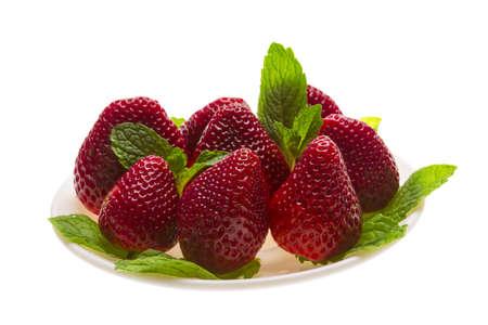 Bright ripe strawberry photo