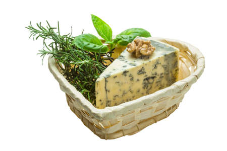 Dor blue cheese with herbs, nuts and honey photo