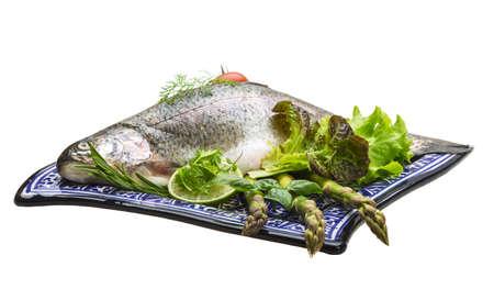 Fresh raw rainbow trout Stock Photo - 19565616