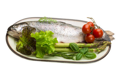 Fresh raw rainbow trout Stock Photo - 19565655