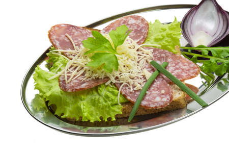 Sandwich with salami photo