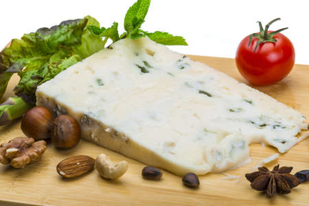 Fresh ripe gorgonzola photo