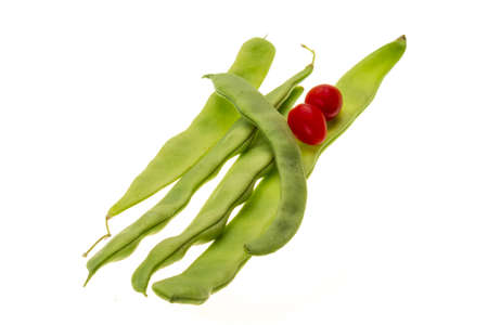 Green bean and cherry tomatoes Stock Photo - 19880266