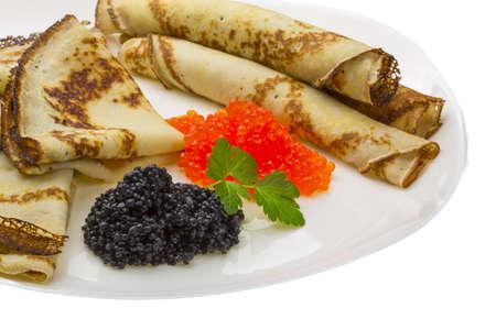 sturgeon: Russian pancakes studio macro shoot