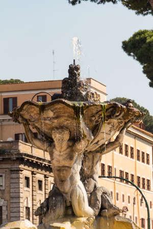 vestal: Fountain and Temple of Vesta, Rome, Italy