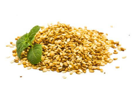 Sesame seeds studio macro shoot Stock Photo