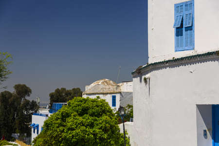 Old arabic town in Tunisia - Sidi Bu Said photo