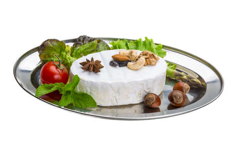 Fresh soft brie cheese photo