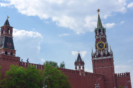 Spasskaya tower on Red Square Moscow Kremlin Stock Photo - 20339845