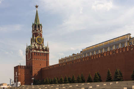 Spasskaya tower on Red Square Moscow Kremlin Stock Photo - 20340133