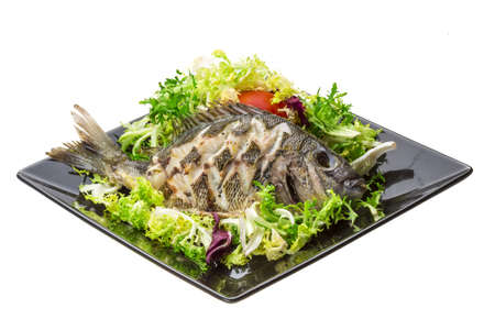 Grilled Tilapia with salad photo