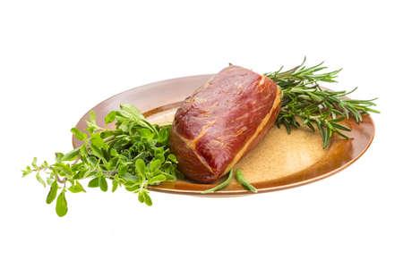 veal sausage: Smoked beef Stock Photo