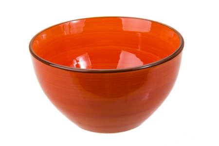 Bright ceramic bowl isolated studio macro shoot photo