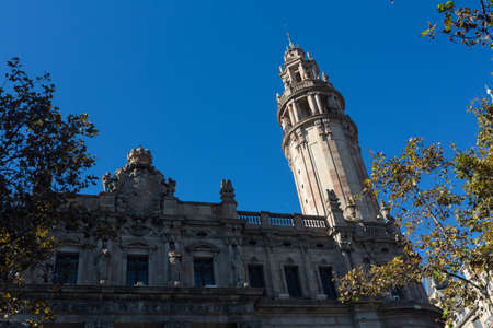 Buildings facades of great architectural interest in the city of Barcelona - Spain photo