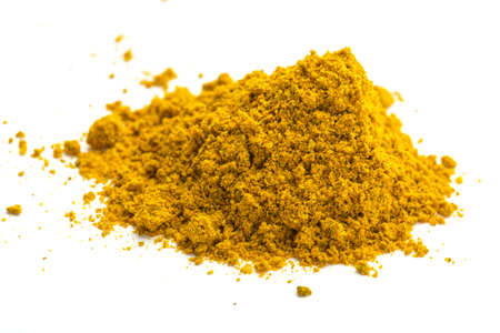 tumeric: Curry studio macro shoot isolated Stock Photo