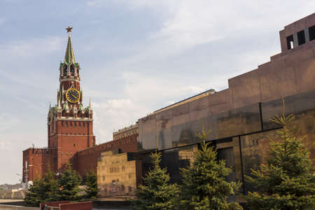 Spasskaya tower on Red Square Moscow Kremlin Stock Photo - 21226913