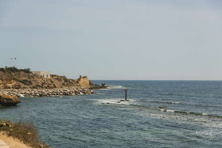 Mediterranean sea coast in Tunisia photo