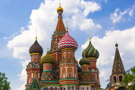 Saint Basil Temple in Moscow Red Square photo
