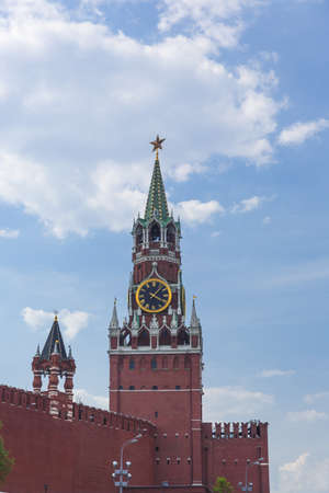 Spasskaya tower on Red Square Moscow Kremlin Stock Photo - 21288213