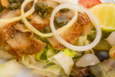 Marinated Snapper with vegetable dressing photo
