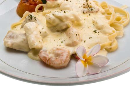 marinara: Marinara pasta - fetucchini and seafood