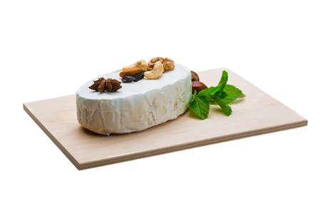 brie: Fresh soft brie cheese Stock Photo