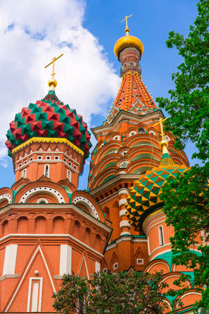 Saint Basil Temple in Moscow Red Square Stock Photo - 22422465