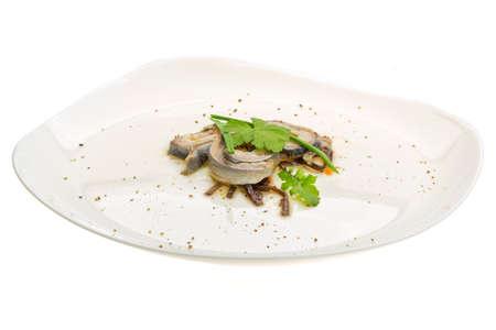 coalfish: Herring fillet Stock Photo
