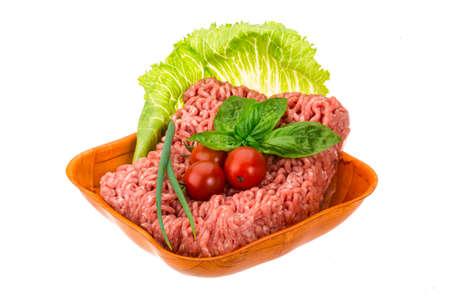 farce: Stuffed raw meat with basil