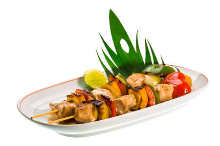 Pork barbecue with vegetables Thai style photo