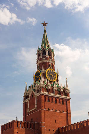 Spasskaya tower on Red Square Moscow Kremlin Stock Photo - 22594578