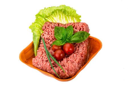 Stuffed raw meat with basil Stock Photo - 22750551