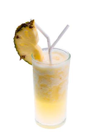 Pineapple shake with ice photo
