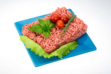 Stuffed raw meat with basil Stock Photo - 22803182