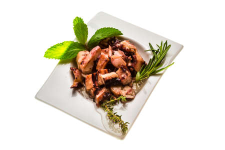 Grilled octopus photo