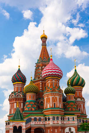 orthodoxy: Saint Basil Temple in Moscow Red Square