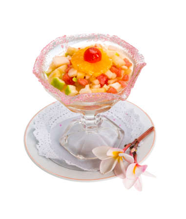 Thai fruit salad isolated photo