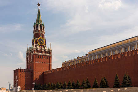 Spasskaya tower on Red Square Moscow Kremlin Stock Photo - 23455738
