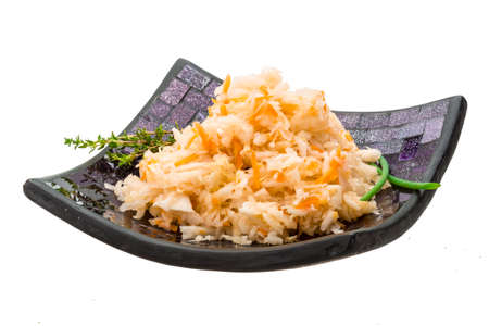 fermented: Fermented cabbage with herbs