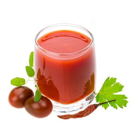 Tomato juice with herbs