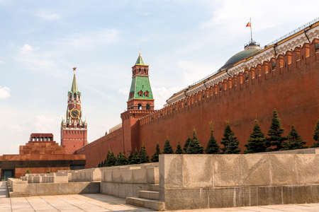 Spasskaya tower on Red Square Moscow Kremlin Stock Photo - 23581013