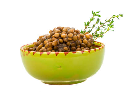 Baked Lentil with thyme photo