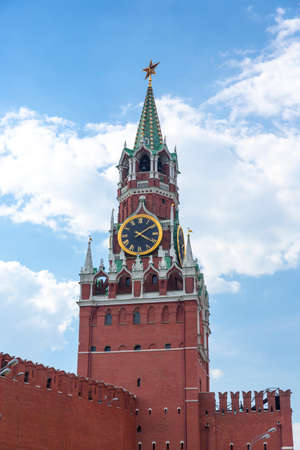 Spasskaya tower on Red Square Moscow Kremlin Stock Photo - 23715069