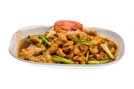 Thai food Chicken with cashew photo