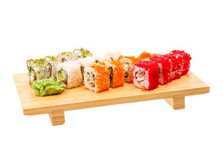 Japan roll assortment isolated