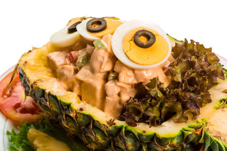 Pineapple and chiken salad Thai-style photo