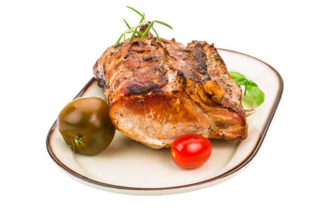 pork  loin: Grilled pork with rosemary